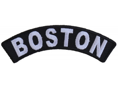 Boston Rocker Patch Small Embroidered Motorcycle NEW Biker Vest Patch