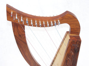 Celtic Irish Baby Harp 12 Strings Solid Wood Free Bag Strings Key