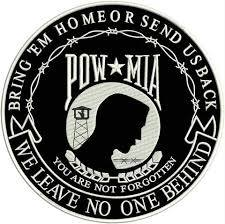 POW MIA you are not forgotten Iron on Center Patch for Biker Vest-STURGIS MIDWEST INC.