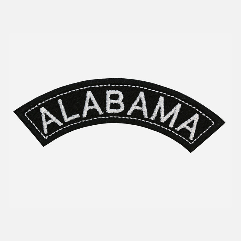 Alabama Rocker Patch Small Embroidered Motorcycle NEW Biker Vest Patch-STURGIS MIDWEST INC.