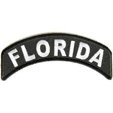 Florida Rocker Patch Small Embroidered Motorcycle NEW Biker Vest Patch-STURGIS MIDWEST INC.