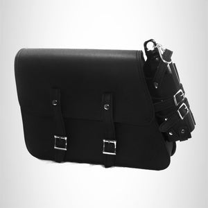 Motorcycle LEATHER swingarm side bag for harley sportster 48