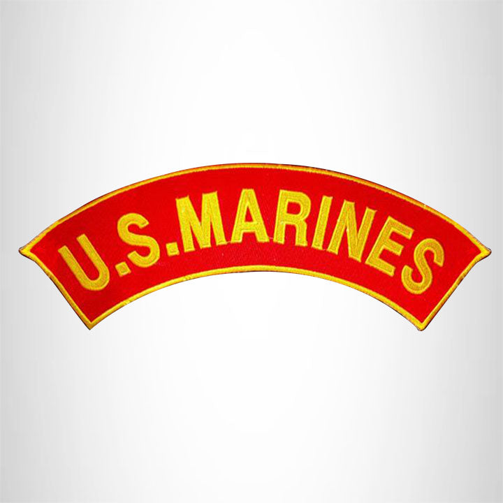 U.S Marines Patch Top Rocker For Jacket Vest Motorcycle Biker Marines Patches.