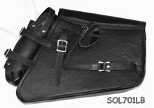 Load image into Gallery viewer, Motorcycle Solo Bag Brown Two Strap leather Swing Arm Bag SOL711LB