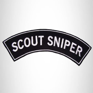 "U.S. MARINES ""SCOUT SNIPER"" Patch and Patches Top Rocker White and Black"