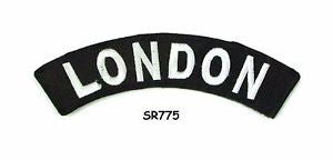 London White on Black Small Rocker Iron on Patches for Biker Vest and Jacket-STURGIS MIDWEST INC.