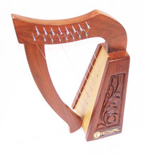Load image into Gallery viewer, Celtic Irish Rose Harp 8 Strings Solid Wood Great for Children New
