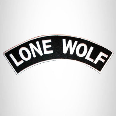 LONE WOLF Iron on Top Rocker Patch Sew on for Biker Vest Jacket TR218