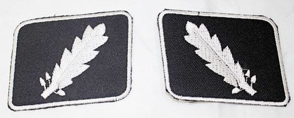 WWII WW2 PATCHES SS Standartenfuhrer Colonel collar tabs COLLAR PATCH SET-STURGIS MIDWEST INC.