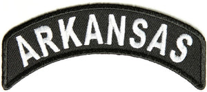 Arkansas Rocker Patch Small Embroidered Motorcycle NEW Biker Vest Patch-STURGIS MIDWEST INC.