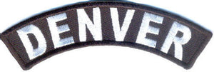 Denver Rocker Patch Small Embroidered Motorcycle NEW Biker Vest Patch-STURGIS MIDWEST INC.