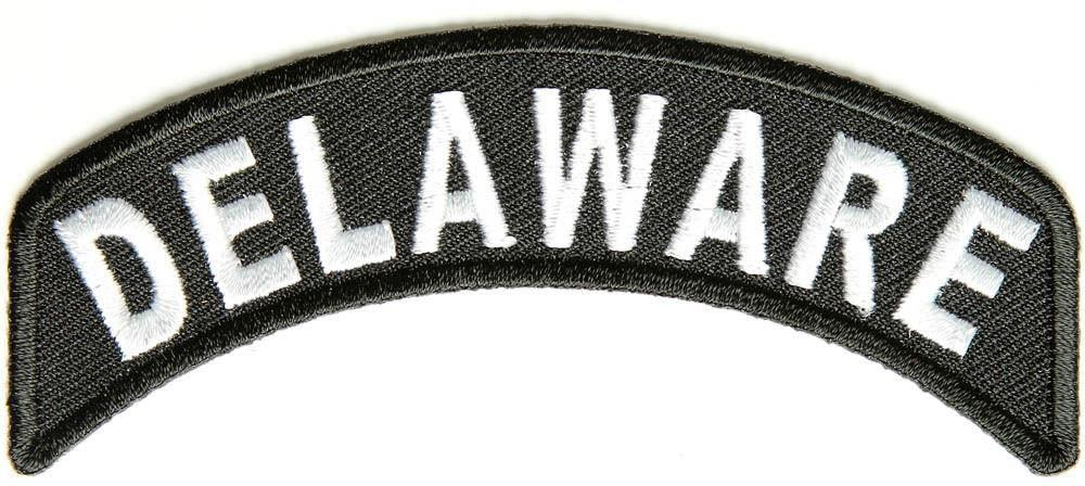 Delaware Rocker Patch Small Embroidered Motorcycle NEW Biker Vest Patch-STURGIS MIDWEST INC.