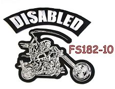 Disabled Grim Reaper writing motorcycle Iron on Patch for Biker Vest FS182-10-STURGIS MIDWEST INC.