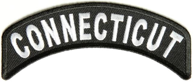Connecticut Rocker Patch Small Embroidered Motorcycle NEW Biker Vest Patch-STURGIS MIDWEST INC.