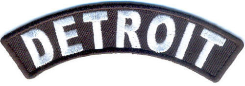 Detroit Rocker Patch Small Embroidered Motorcycle NEW Biker Vest Patch-STURGIS MIDWEST INC.