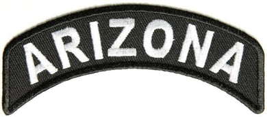 Arizona Rocker Patch Small Embroidered Motorcycle NEW Biker Vest Patch-STURGIS MIDWEST INC.