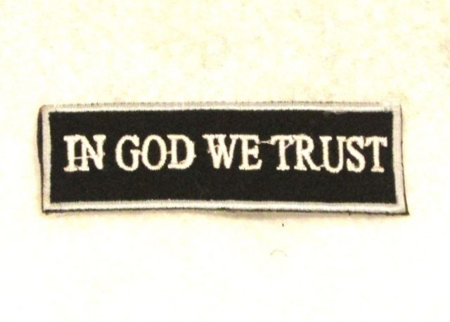 IN GOD WE TRUST Small Patch for Vest jacket SB610-STURGIS MIDWEST INC.