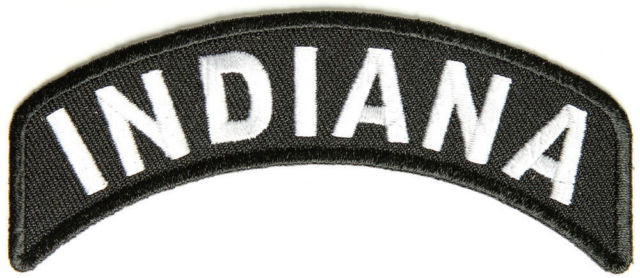 Indiana Rocker Patch Small Embroidered Motorcycle NEW Biker Vest Patch-STURGIS MIDWEST INC.