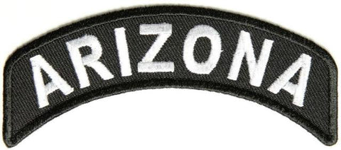Arizona Rocker Patch Small Embroidered Motorcycle NEW Biker Vest Patch