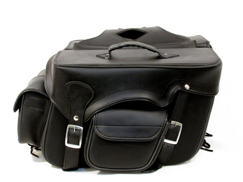 Motorcycle Saddlebags for Harley davidson Dyna Zip off detachable  Pockets  with Quick Release SAD100