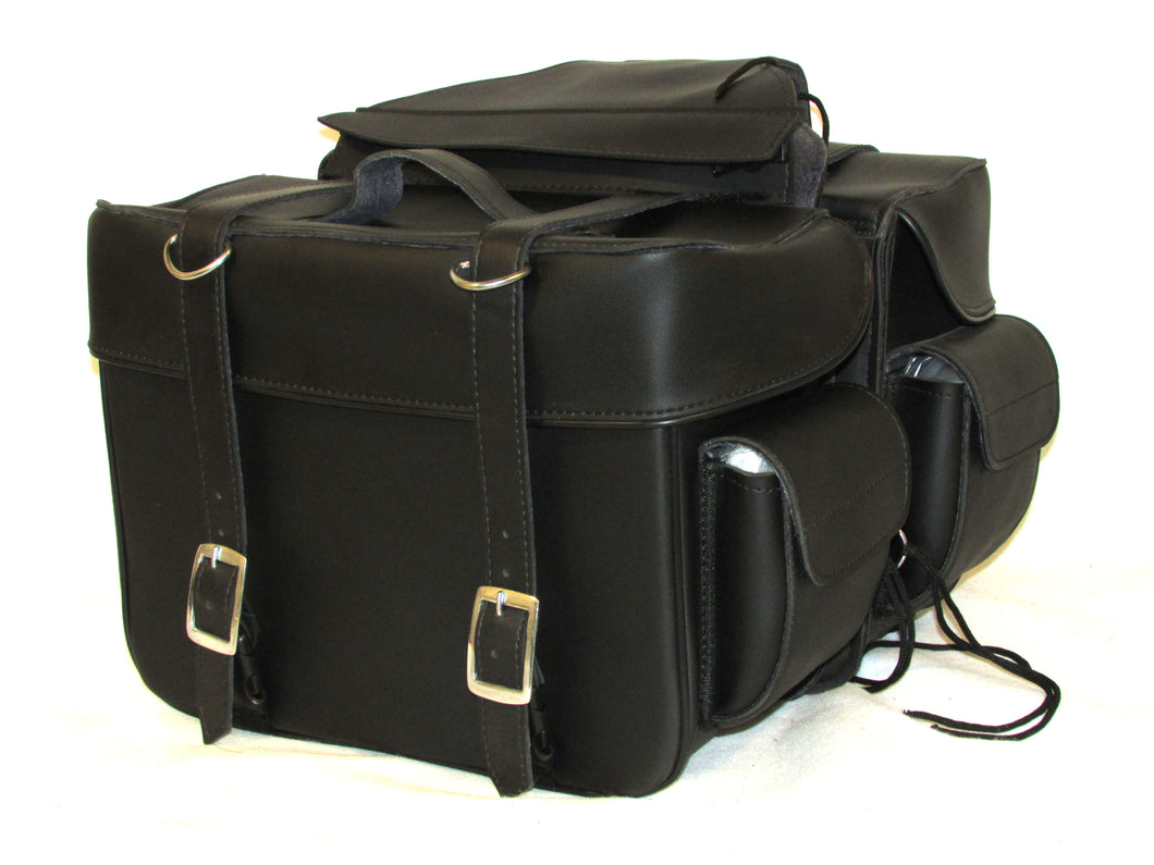 Saddlebag Zip off with End Pocket Two Strap Quick Release Buckles SAD101-STURGIS MIDWEST INC.