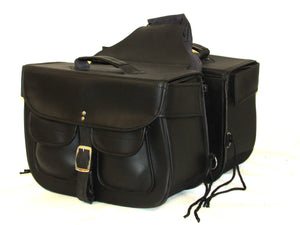 MOTORCYCLE Saddlebags SET Zip off Closure on Lid Single Strap 2 Outside Pockets SAD102-STURGIS MIDWEST INC.