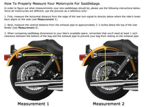Load image into Gallery viewer, MOTORCYCLE Saddlebags SET Zip off Closure on Lid Single Strap 2 Outside Pockets SAD102-STURGIS MIDWEST INC.
