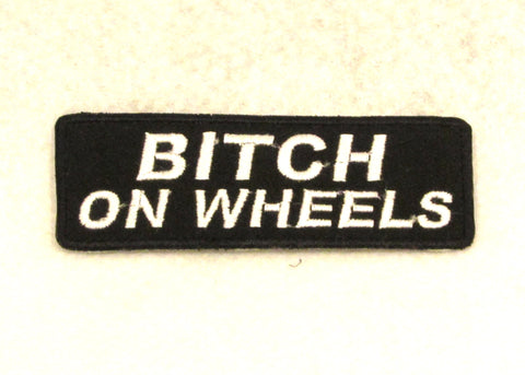 BITCH ON WHEELS Small Patch for Biker Vest SB709
