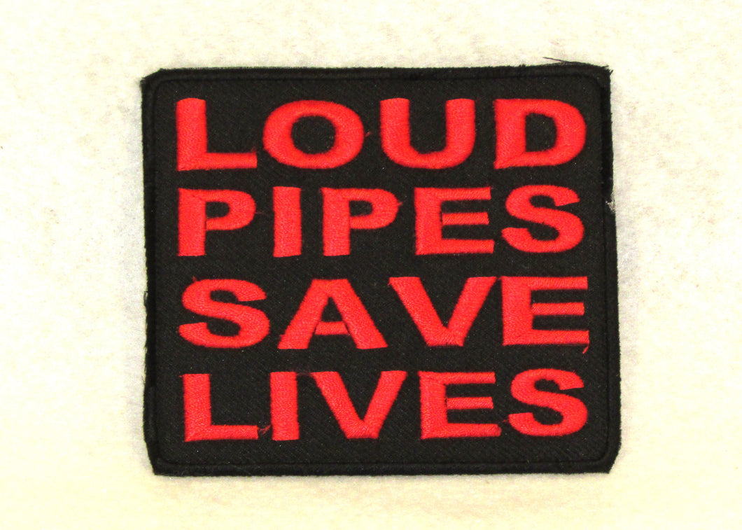 LOUD PIPES SAVE LIVES Small Patch for Biker Vest SB723-STURGIS MIDWEST INC.