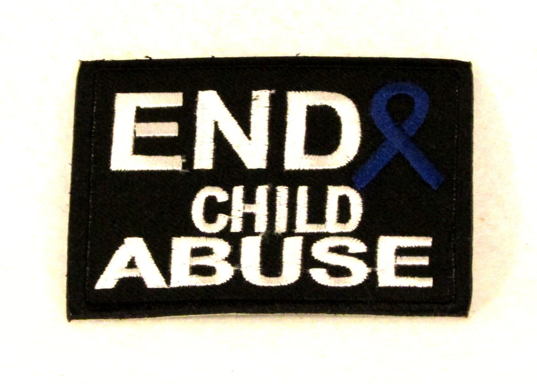 "End Child Abuse3.5"" x 2.625"" Small Patch for Biker Vest SB828-STURGIS MIDWEST INC."