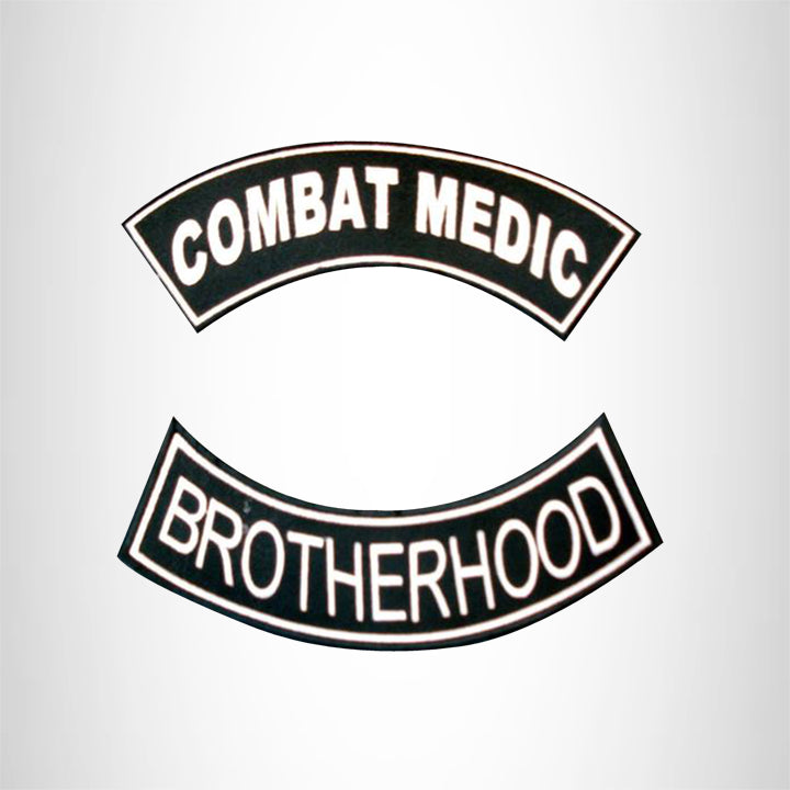 COMBAT WOUNDED BROTHERHOOD 2 Patches Set Sew on for Vest Jacket
