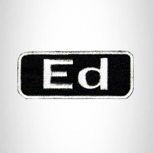 ED Iron on Name Tag Patch for Motorcycle Biker Jacket and Vest NB156