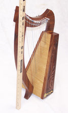 Load image into Gallery viewer, Celtic Irish Baby Harp 12 Strings Solid Wood Free Bag Strings Key