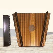 Load image into Gallery viewer, 19 String Lap Harp Rose Wood New