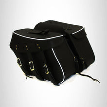 Load image into Gallery viewer, Motorcycle Detachable Saddlebag for Harley Dyna Low Rider 3 Straps Zip Off
