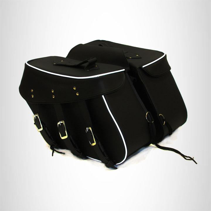 Motorcycle Detachable Saddlebag for Harley Dyna Low Rider 3 Straps Zip Off