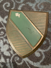 Load image into Gallery viewer, Vintage 1966 Brass Wall Art Scovill, Valiant Emblem?