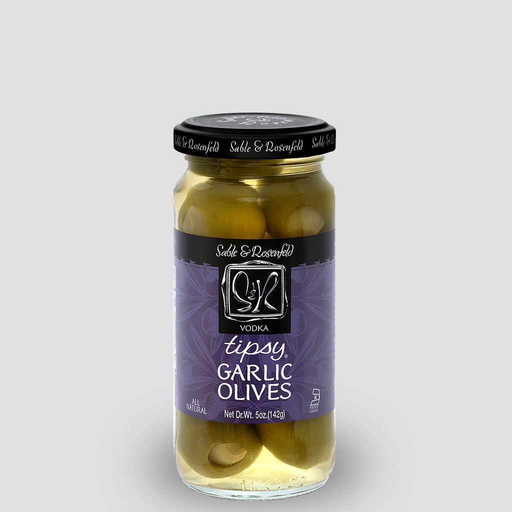 Vodka Garlic Tipsy Olives