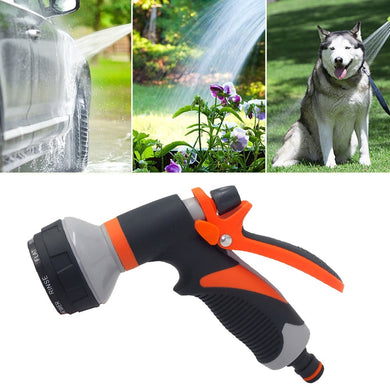 8Patterns Adjustable High Pressure Gun Sprinkler Nozzle Garden Water Nozzle Head Hose Sprayer Garden Spray Auto Car Washing home