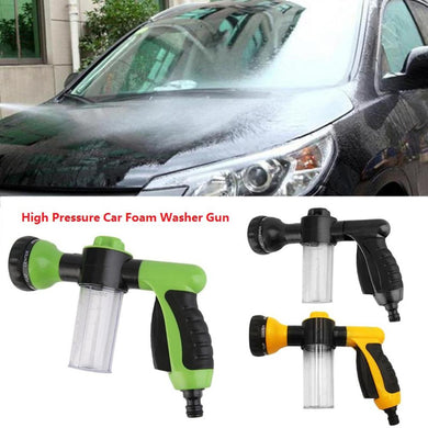 Car Foam Wash Spray Gun, Water Hose Foam Sprayer High Pressure Car Wash Foam Gun Multi-function 3 Grade Adjustable Washer Tool