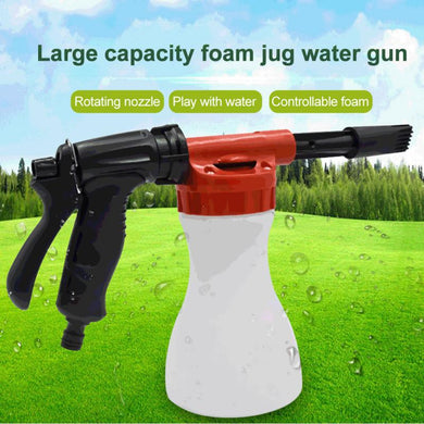 Foam Kettle Car Wash Water Gun High Pressure Water Spray Adjustable Fleaning Tire Bottle Sprayer Garden Window Soap Washing