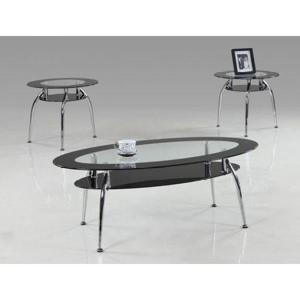 Space Age | Glass Coffee Table Set | 3 Piece Set