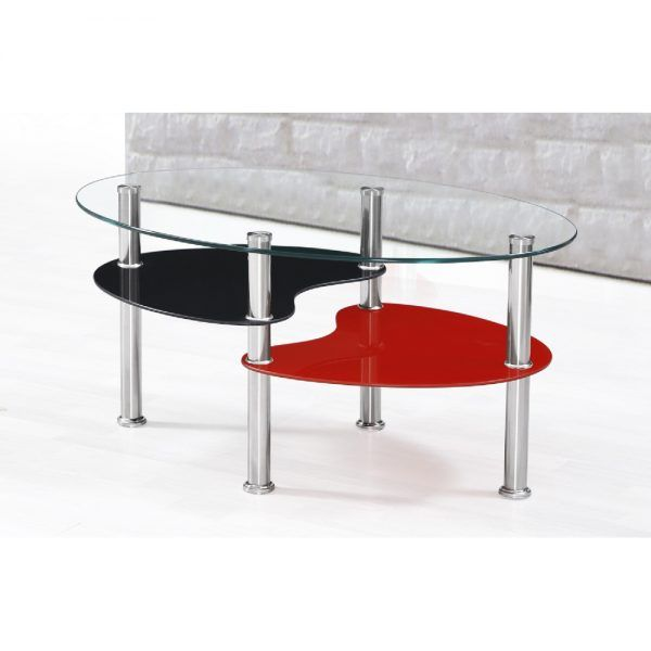 IKASA Coffee Table | Clear-Glass-Black-&-Red-Coffee-Table.jpg