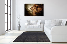 Load image into Gallery viewer, IKASA Art Decor |Lion Floating Tempered Glass with Foil