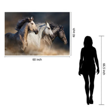 Load image into Gallery viewer, IKASA Art Decor |Temp Glass w/foil 3 horse