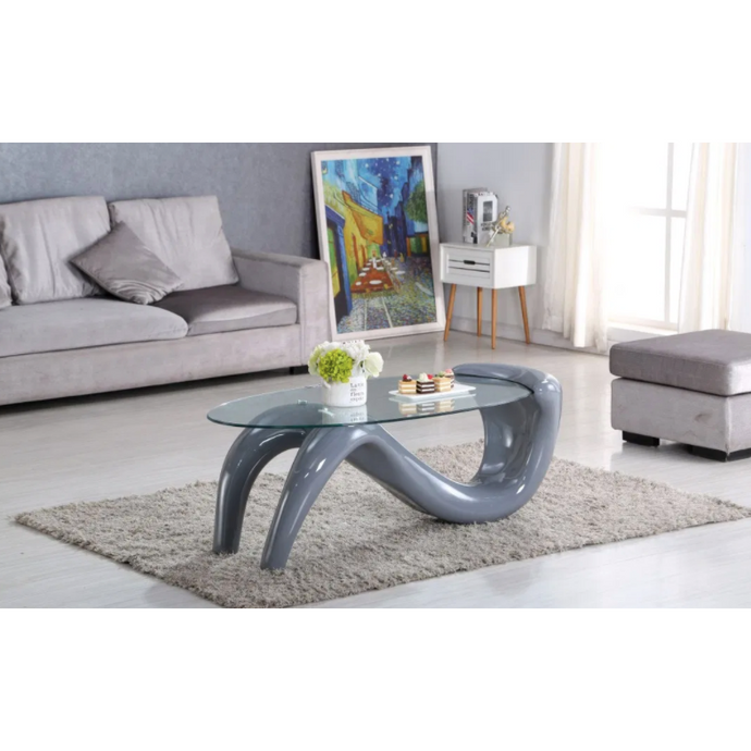 IKASA Coffee Table | Abstract-Glass-Coffee-Table-With-Metal-Base.jpg