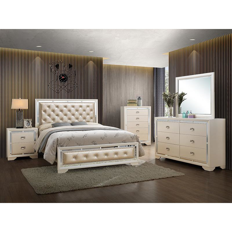 Gold ALLURING LIGHTS | 5 Piece BEDROOM Set