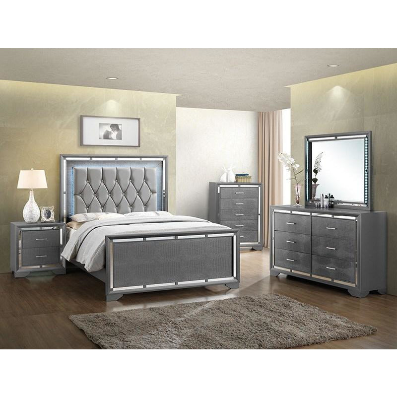 Silver ALLURING LIGHTS | 5 Piece BEDROOM Set