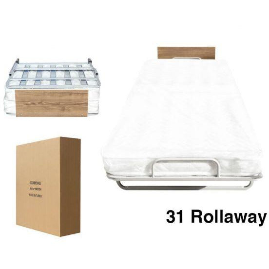 Folding Rollaway Bed/Cot with MATTRESS included.