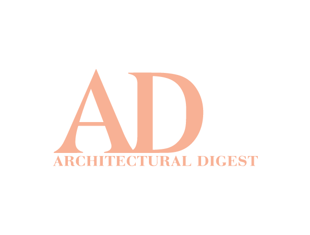 the architectural digest pink salmon logo